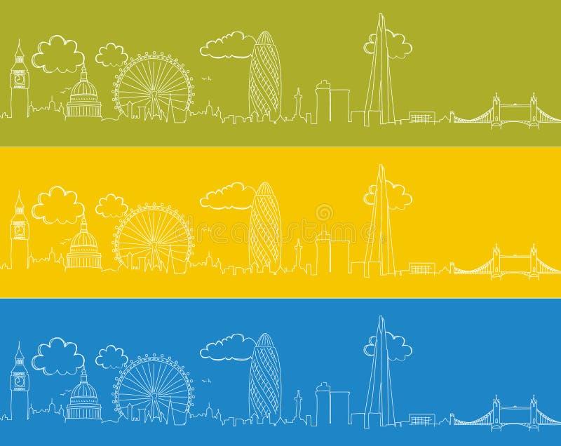 Doodle горизонта Лондона стоковая фотография