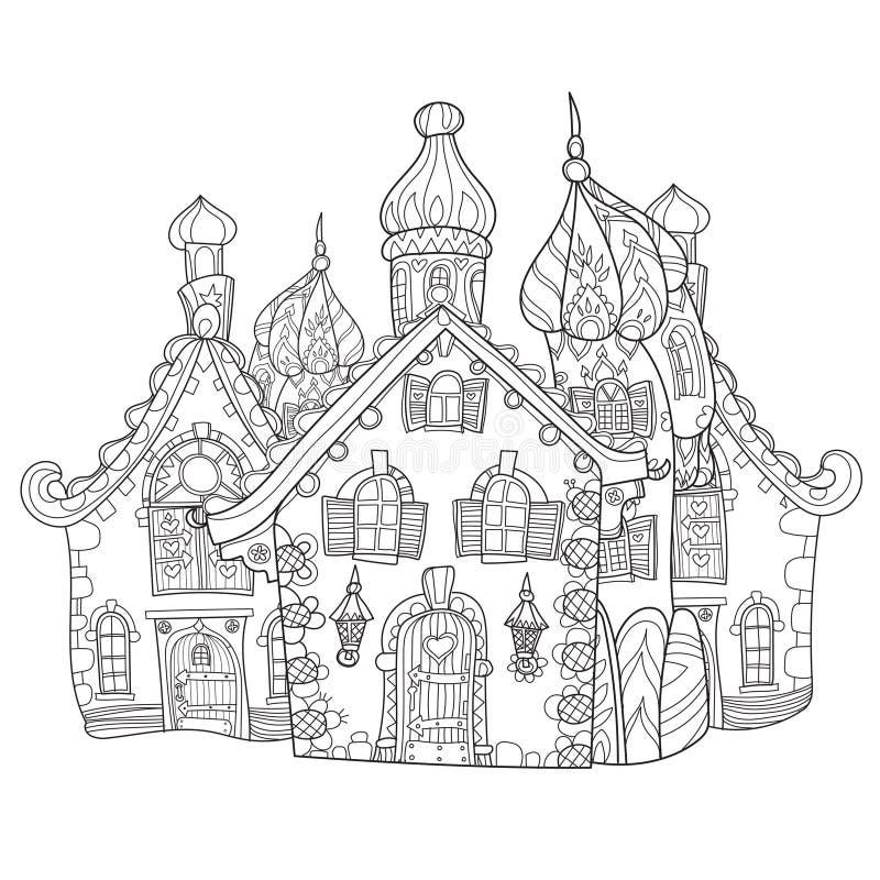 Doodle городка сказки вектора милый бесплатная иллюстрация