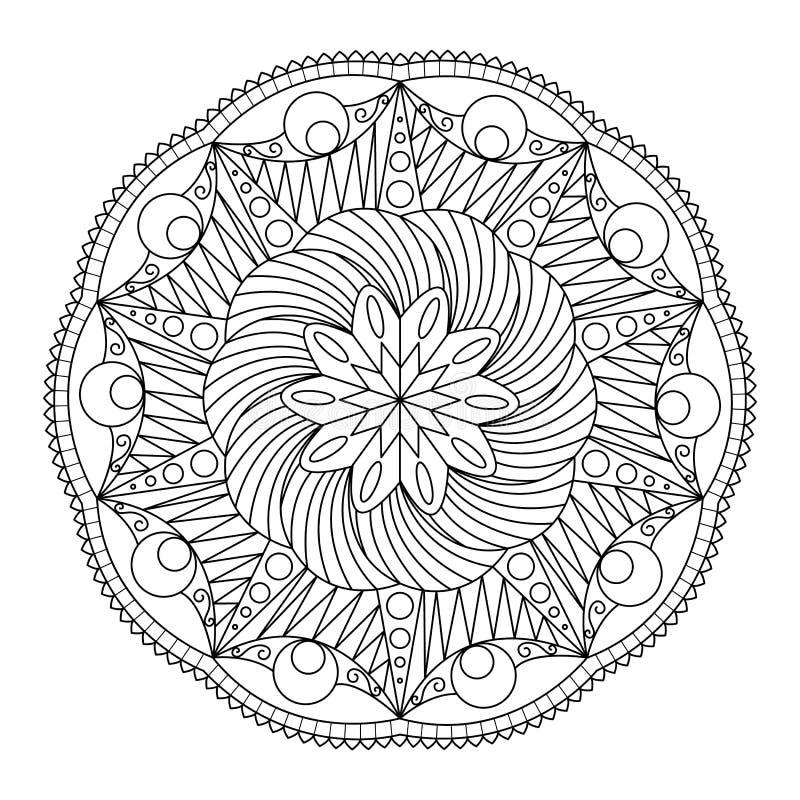 Doodle Дзэн мандалы бесплатная иллюстрация