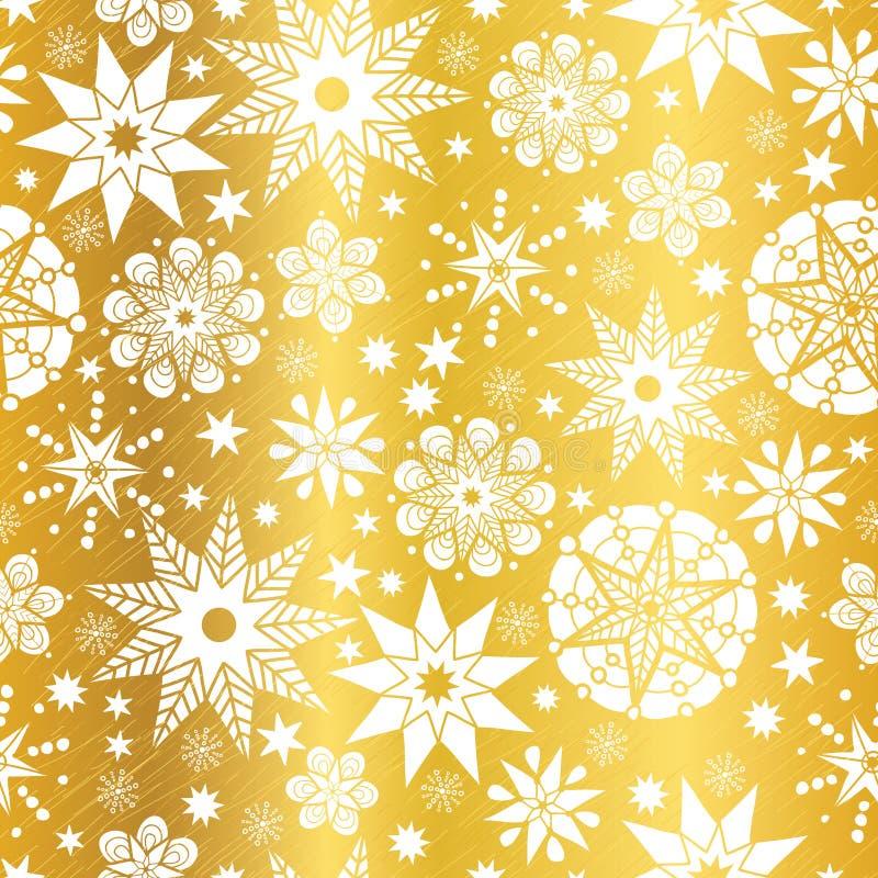 Doodle золота вектора белый абстрактный играет главные роли безшовная предпосылка картины Большой для элегантной ткани текстуры,  иллюстрация вектора