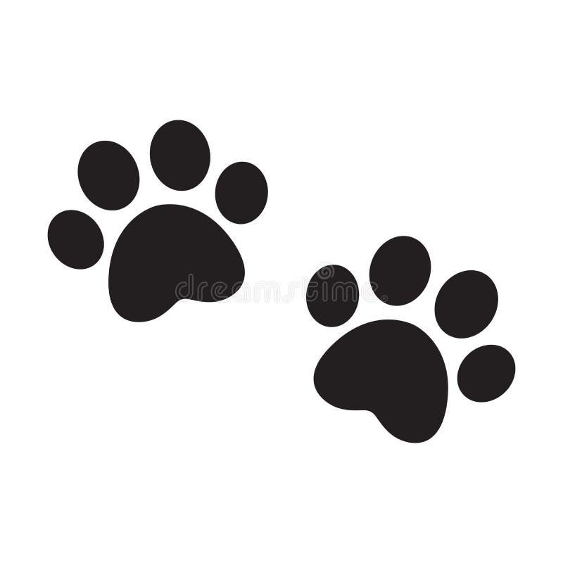 Doodle иллюстрации знака символа мультфильма котенка щенка кота французского бульдога логотипа значка следа ноги вектора лапки со бесплатная иллюстрация