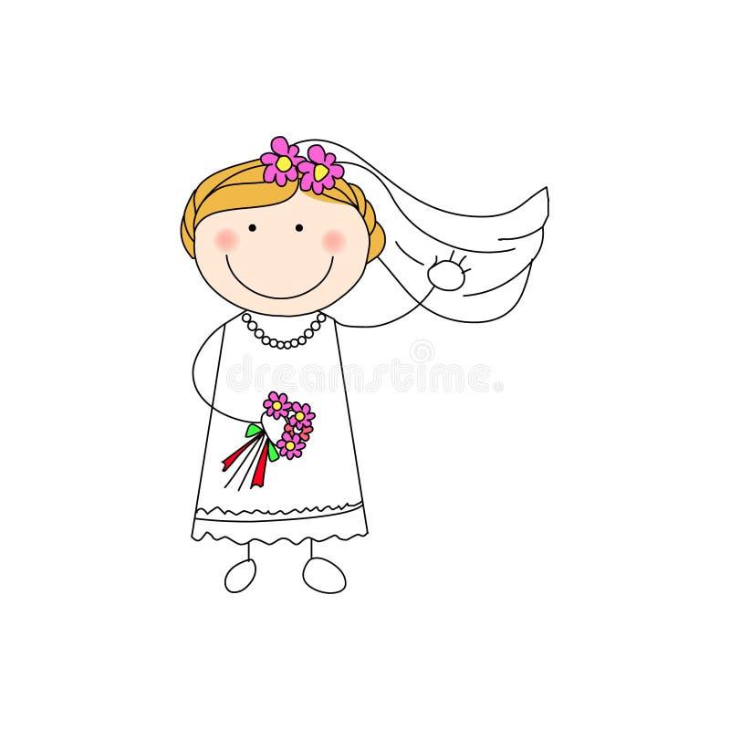 doodle невесты иллюстрация штока