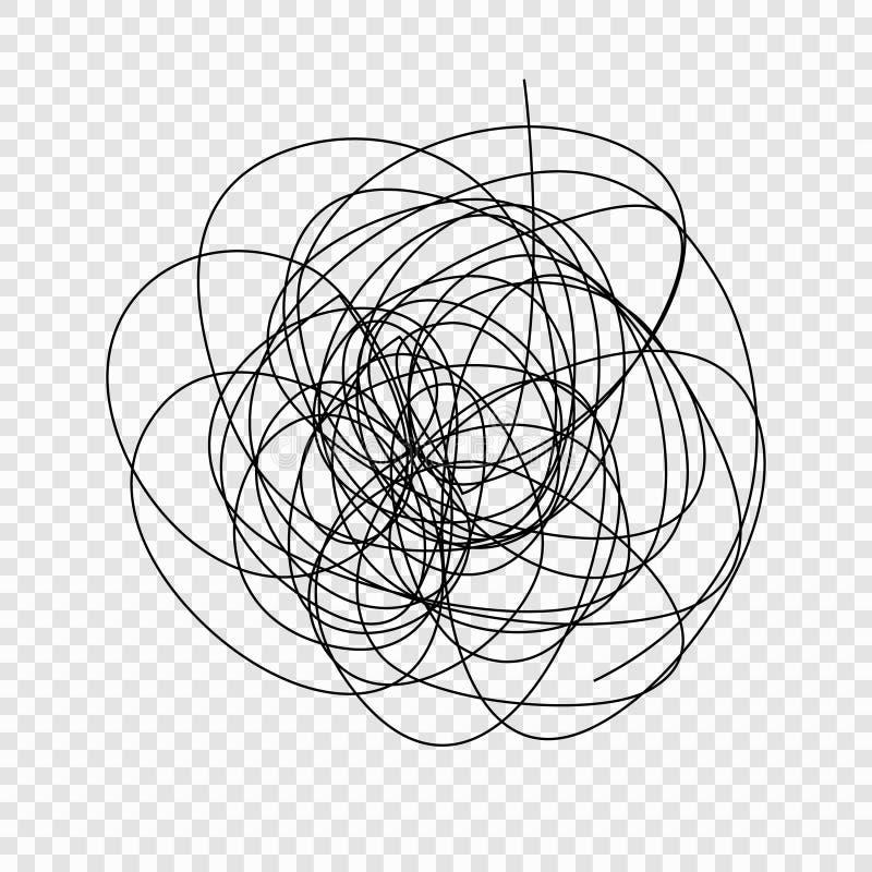 doodle хаоса иллюстрация вектора