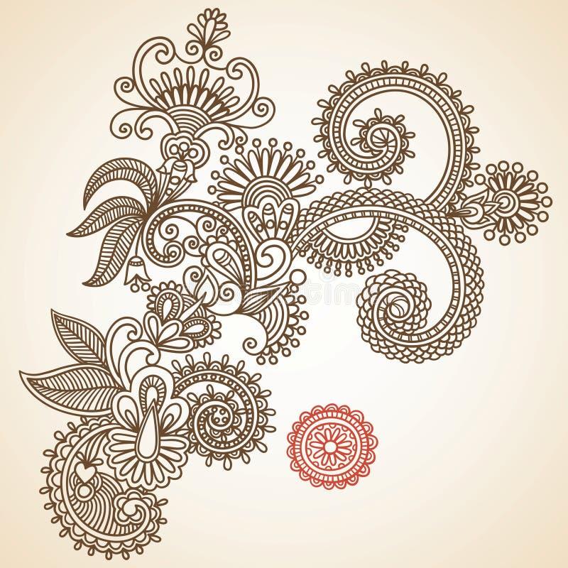 doodle цветет вектор иллюстрации иллюстрация штока