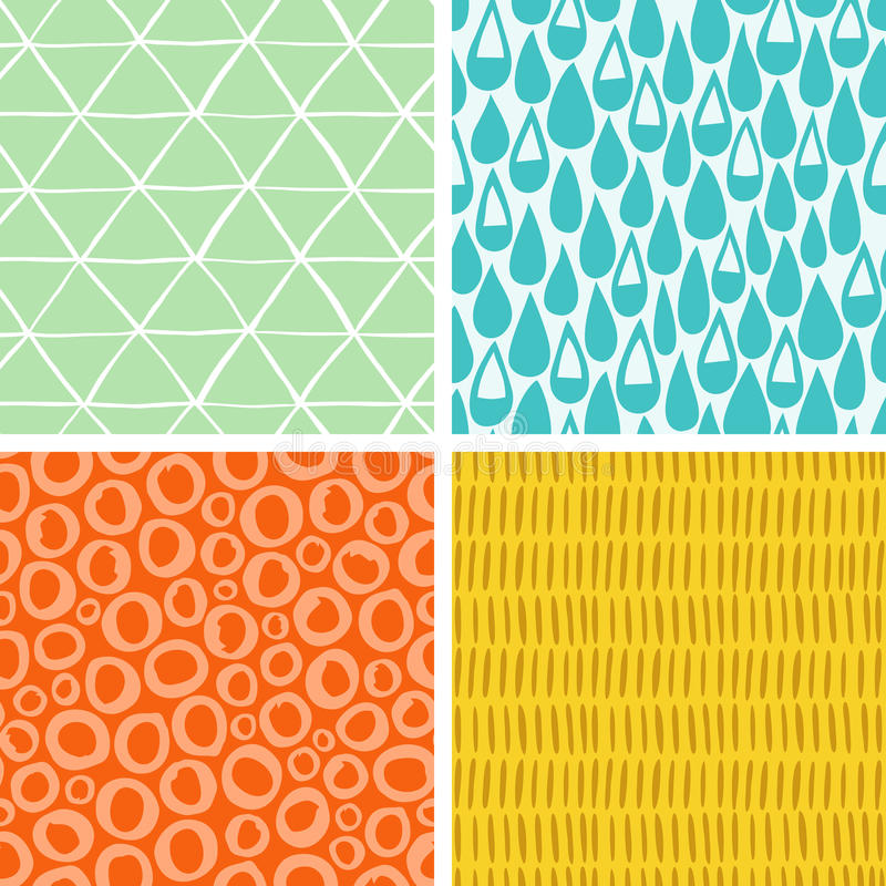 Doodle abstract patterns part 2 vector illustration