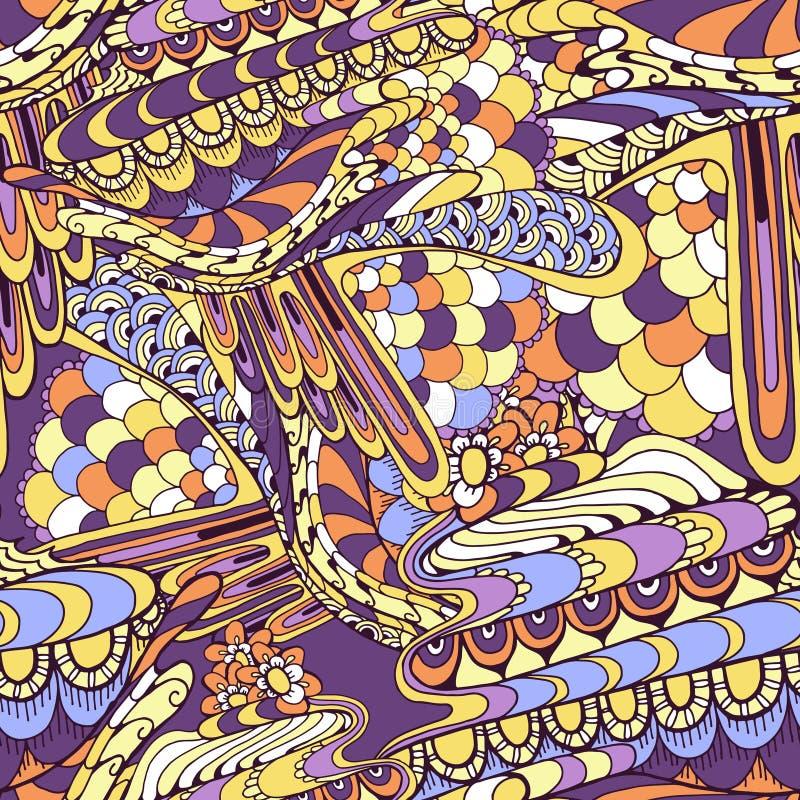 doodle Abstrakcja bezszwowy wzór ilustracji