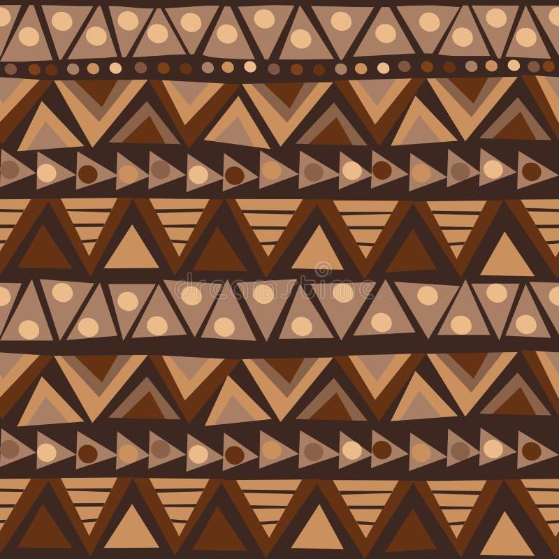 Doodle afrykanina wzór z geometrycznymi motywami ilustracji
