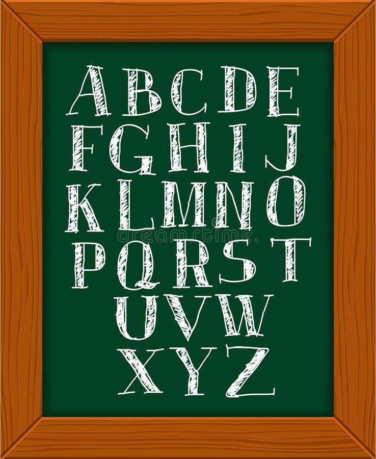 Download Doodle alphabet. stock vector. Illustration of black - 19066659