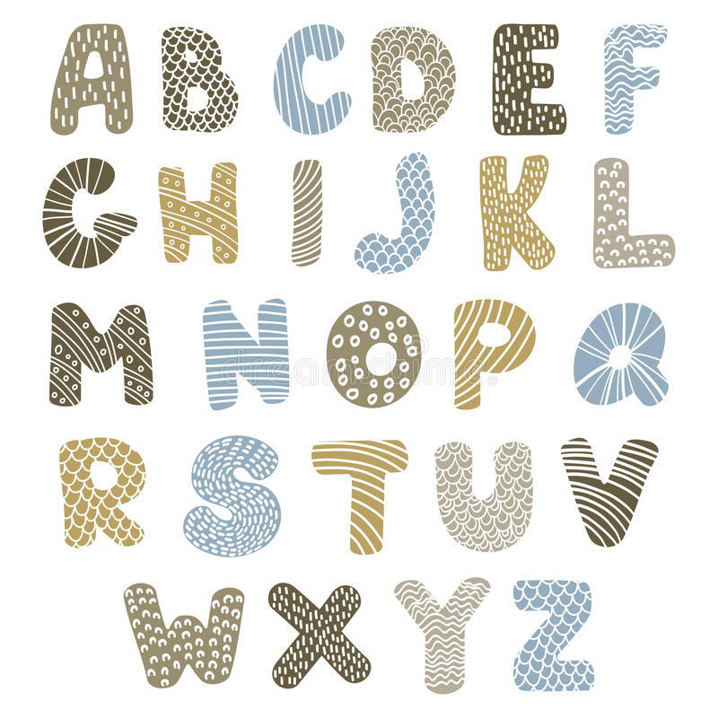 Download Doodle alphabet stock vector. Image of color, doodle - 28448113