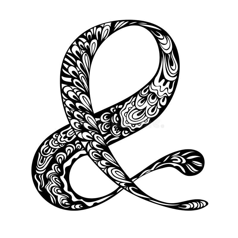 Doodle Ampersand Symbol Stock Vector Illustration Of Elegant 72667066