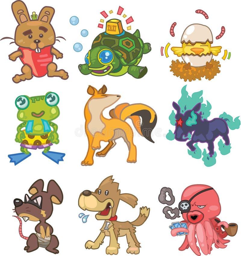 Doodle animal vector illustration