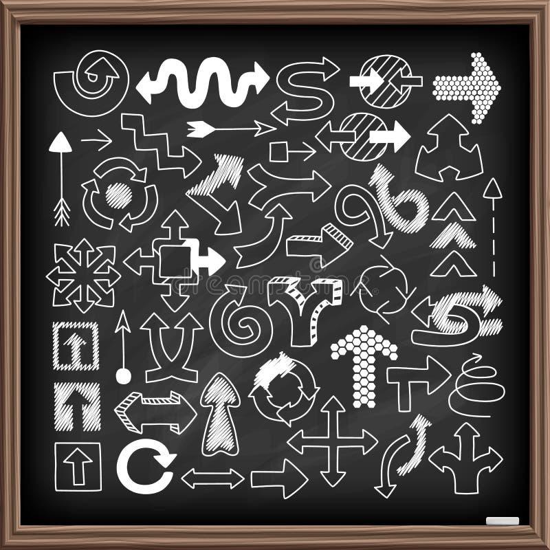 Doodle arrow symbols set royalty free illustration