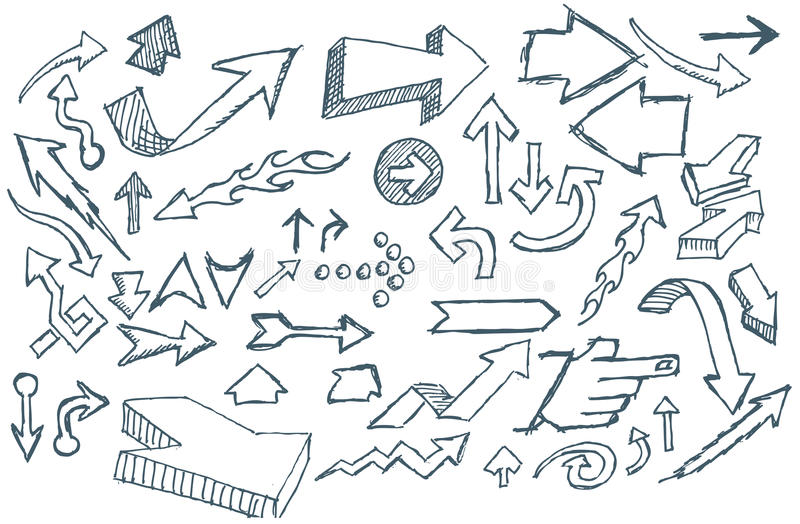 Doodle Arrows royalty free illustration
