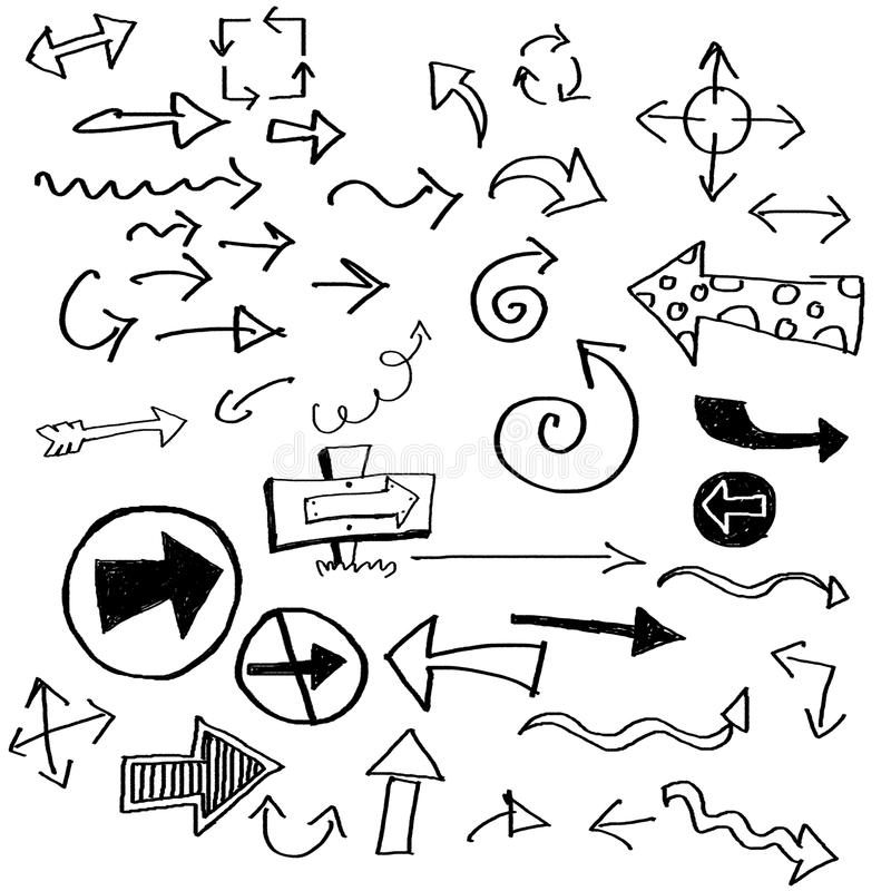 Doodle arrows stock illustration