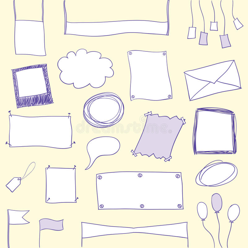 Download Doodle Banners And Frames With Copy Space Stock Vector - Image: 12947136