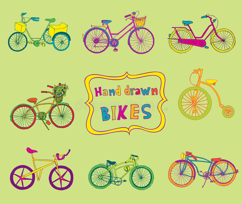 Doodle Bicycles Stock Vector