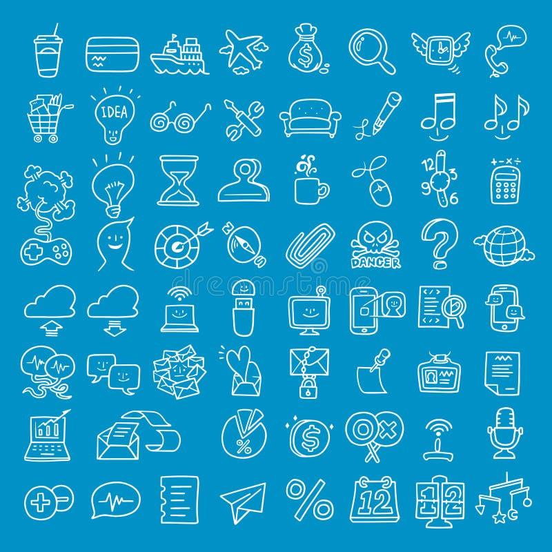 Doodle biznesu ikona zdjęcia royalty free