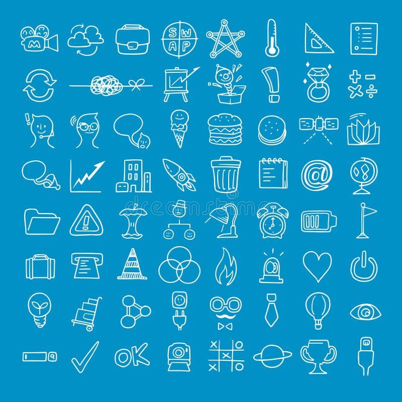 Doodle biznesu ikona obraz stock