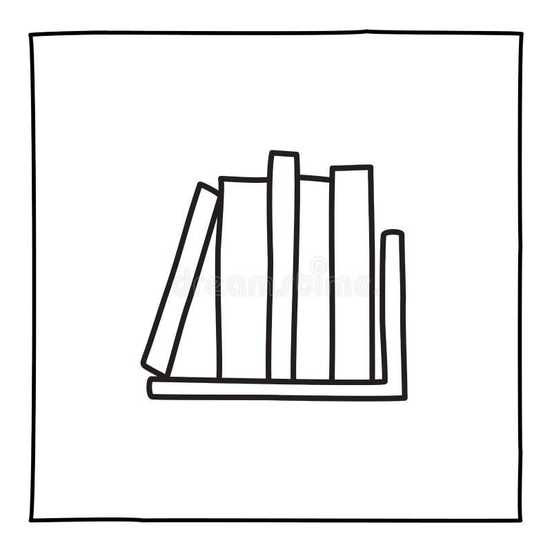 Doodle book shelf icon royalty free illustration