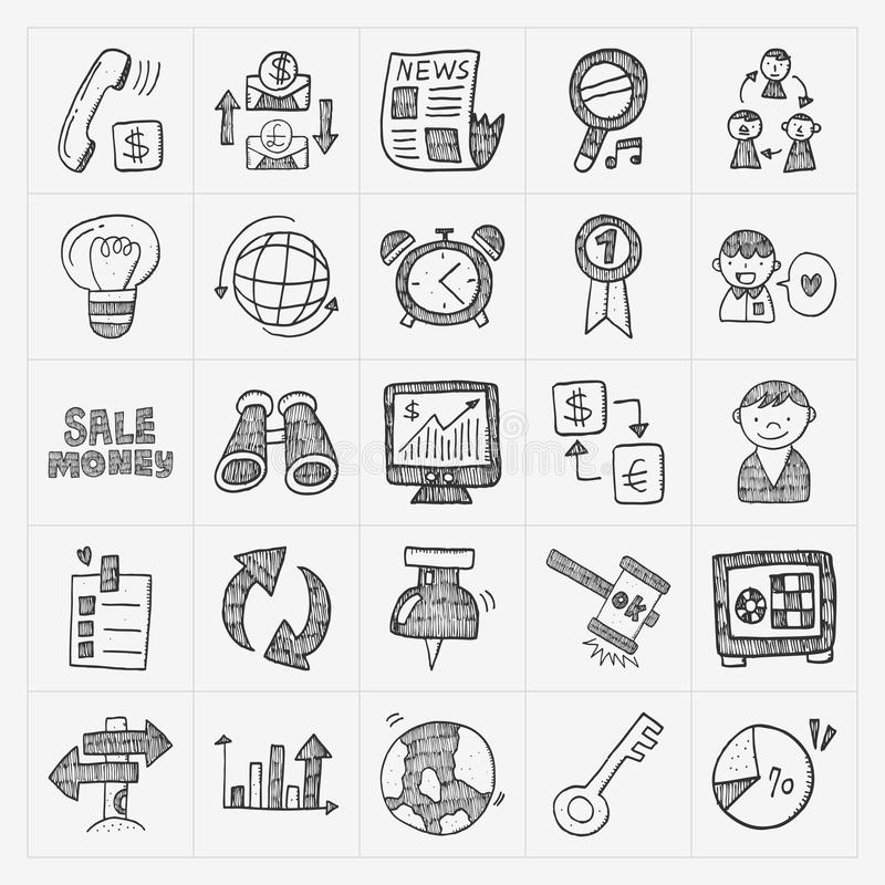 Doodle business icon stock illustration