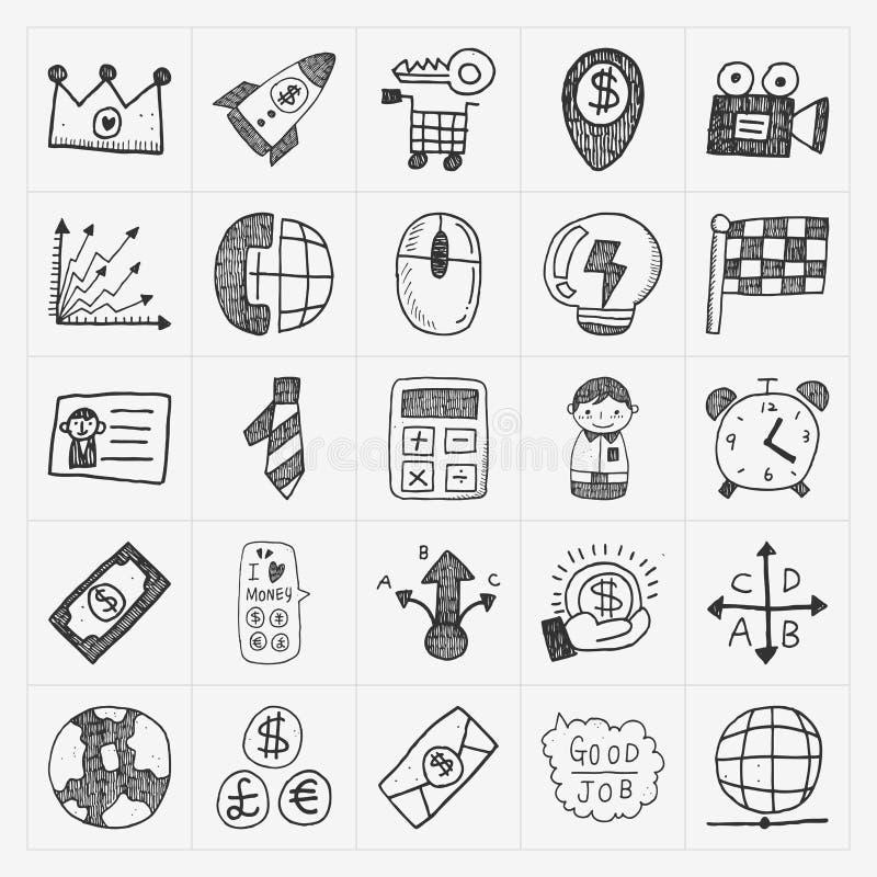 Doodle business icon. Cartoon vector illustration stock illustration