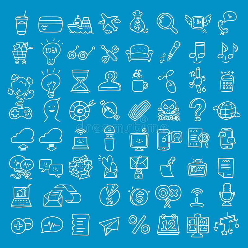 Doodle Business Icon royalty free stock photos