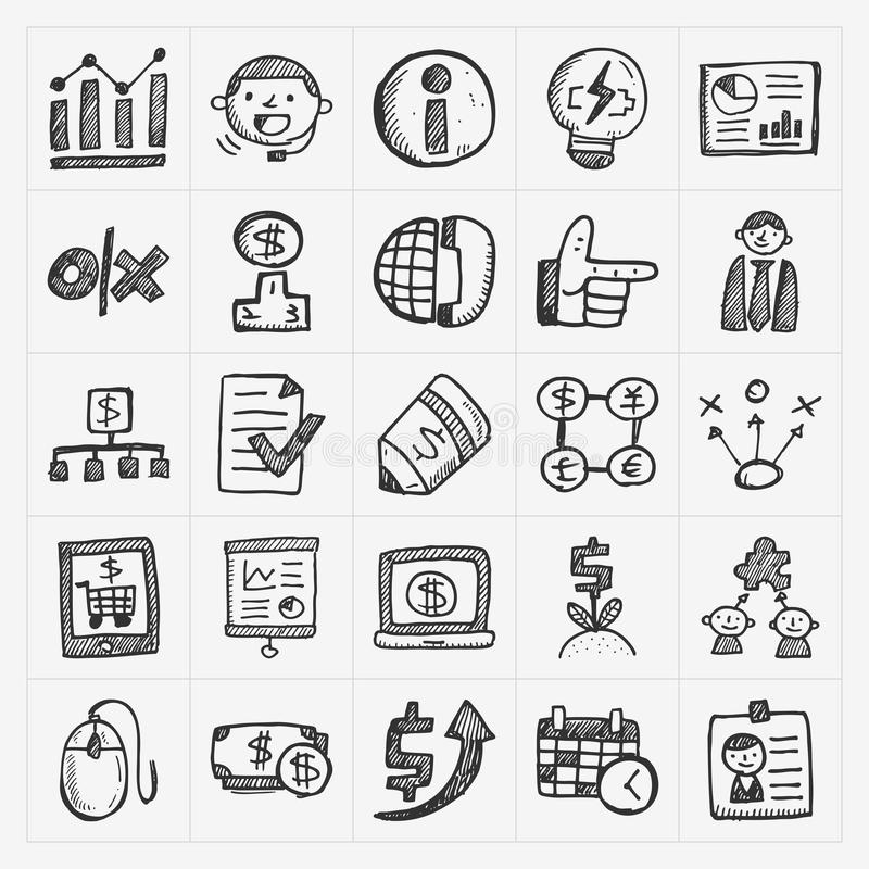 Doodle business icon royalty free illustration