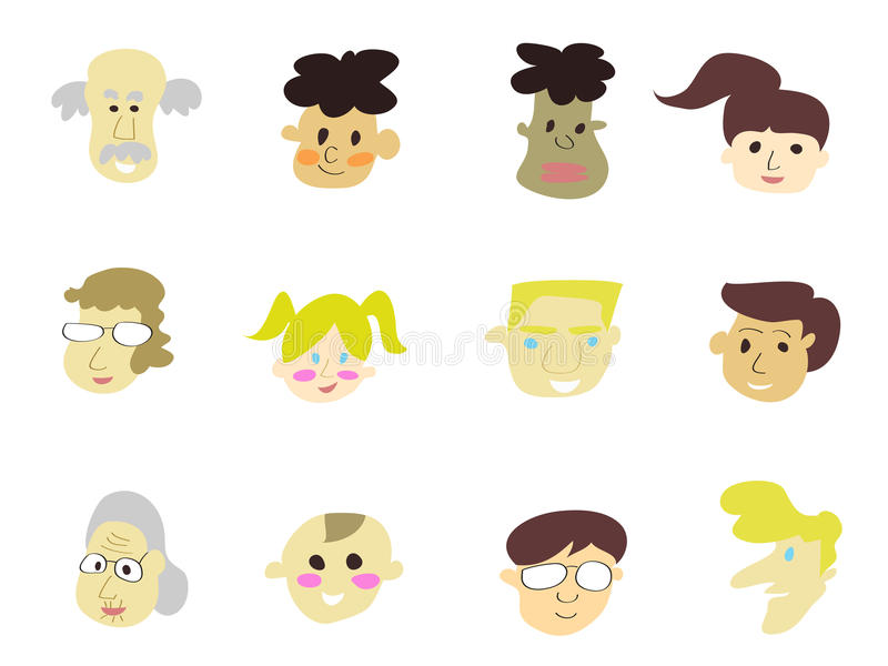 Download Doodle Cartoon People Icons Stock Vector - Image: 22421192