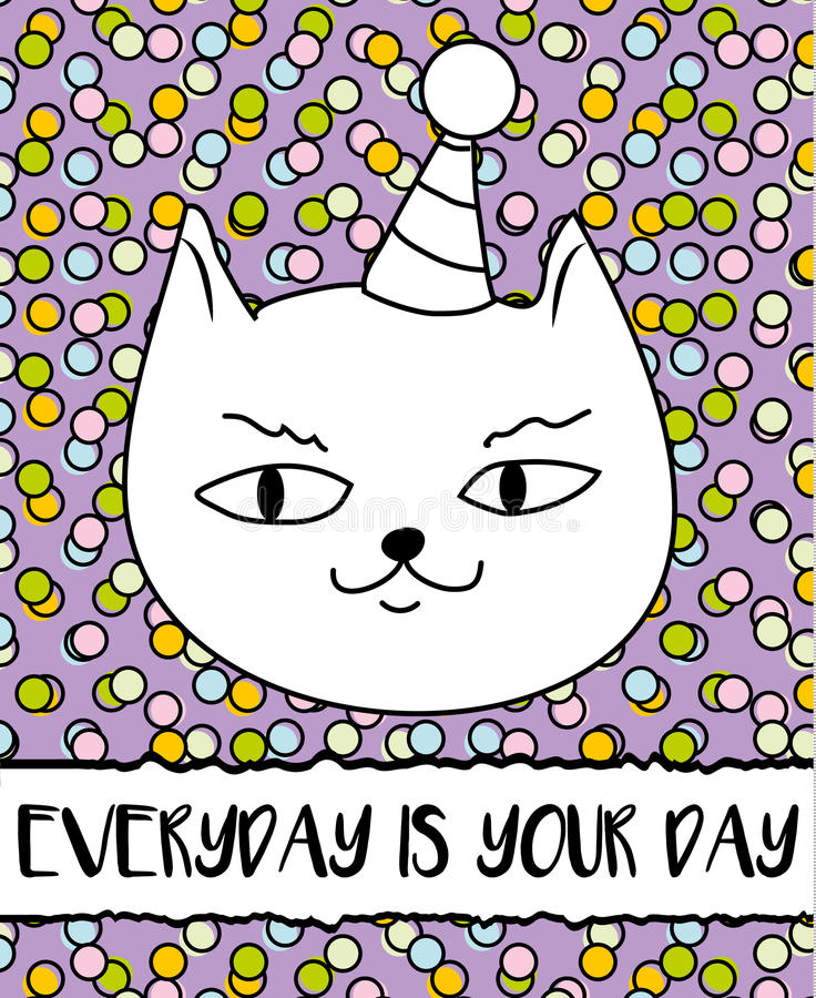 Doodle cat in birthday hat modern postcard flyer design template download doodle cat in birthday hat modern postcard flyer design template inspirational bookmarktalkfo Choice Image