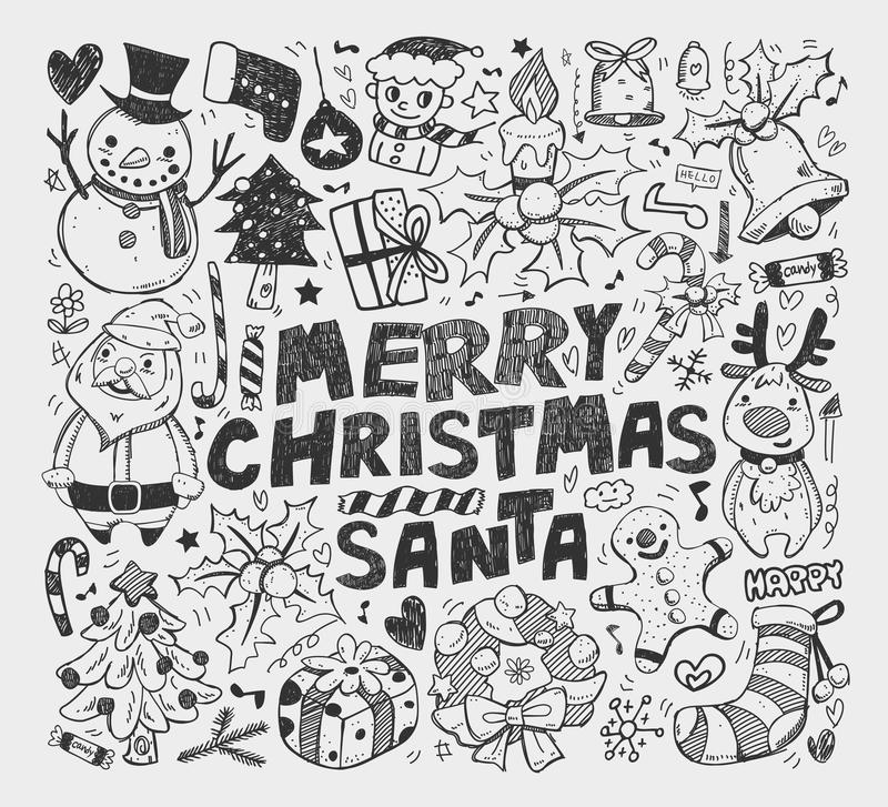 Download Doodle Christmas Element Stock Image - Image: 29708791