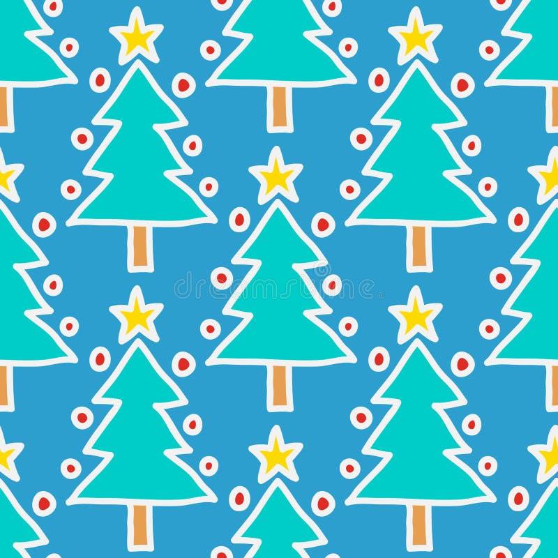 Doodle Christmas tree stock illustration