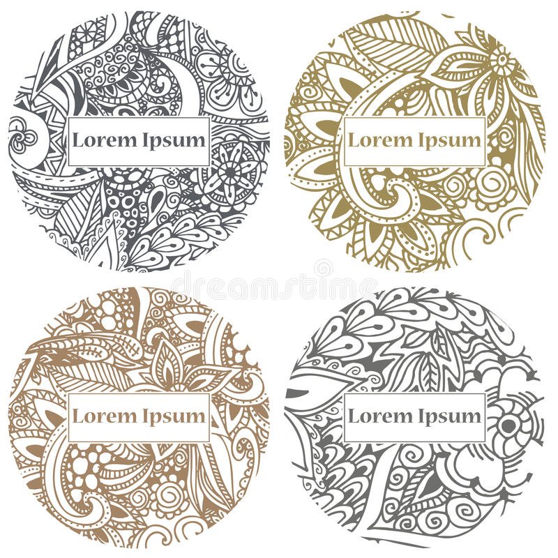 Doodle circle design abstract lace ornament vector illustration download doodle circle design abstract lace ornament vector illustration with arabic motifs for card stopboris Images