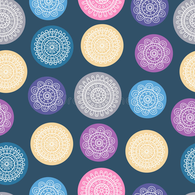 Doodle circles pattern stock photo