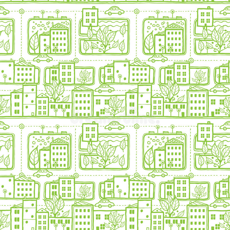 Download Doodle City Streets Seamless Pattern Background Stock Vector - Image: 33732711