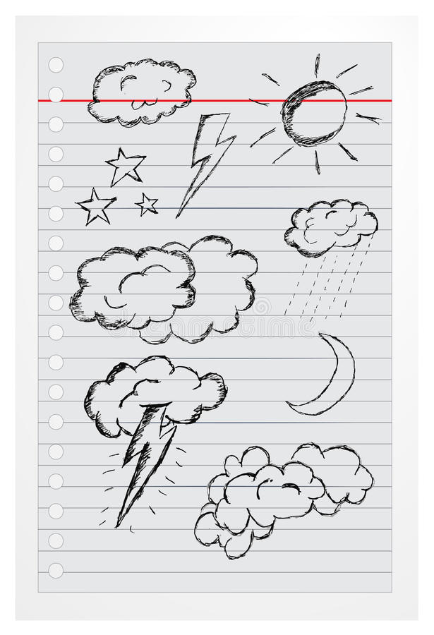 Free Doodle Clouds Isolated On White Stock Photo - 40487050