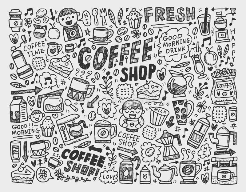 Download Doodle Coffee Element Background Stock Illustration - Image: 33644940