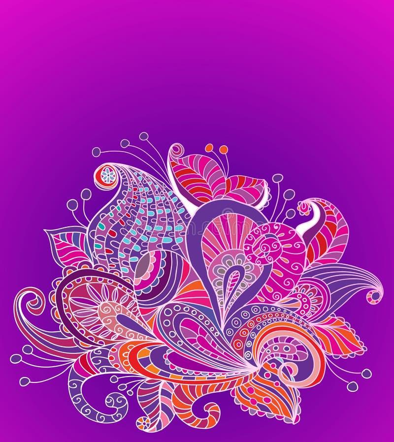 Download Doodle Color Floral Background Stock Vector - Image: 27103094