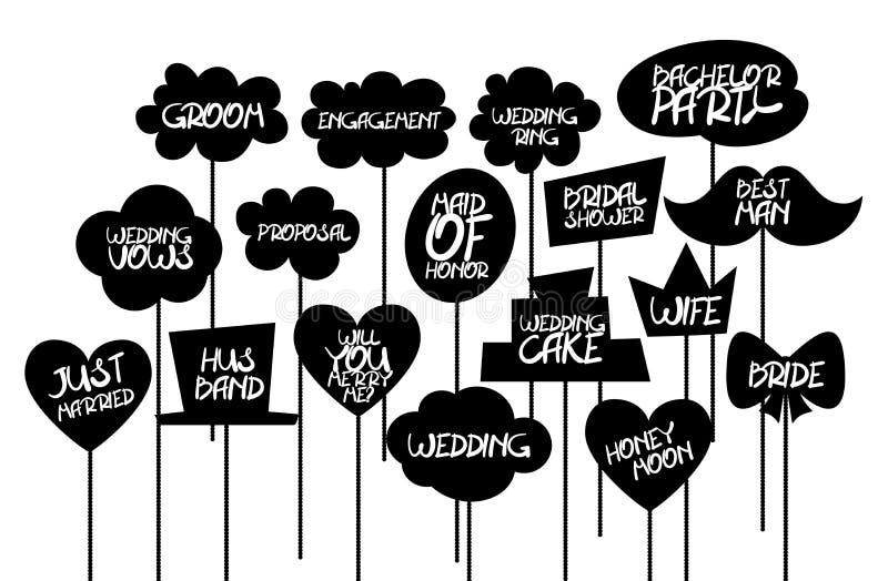 Doodle comic speech bubble black vector royalty free stock photos