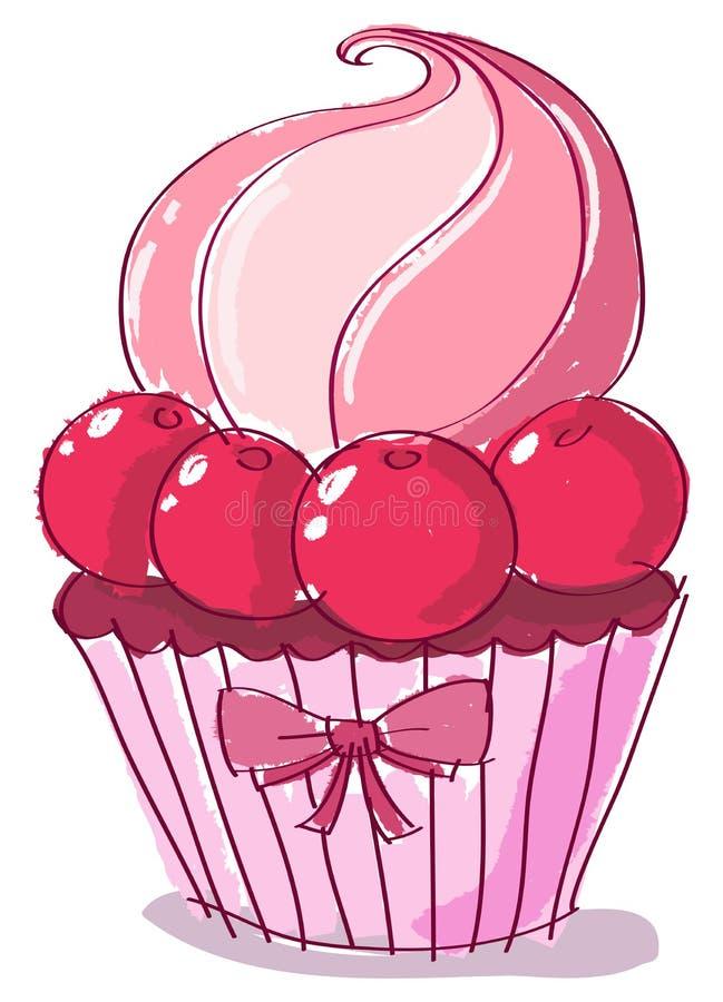 Doodle cupcake stock illustration