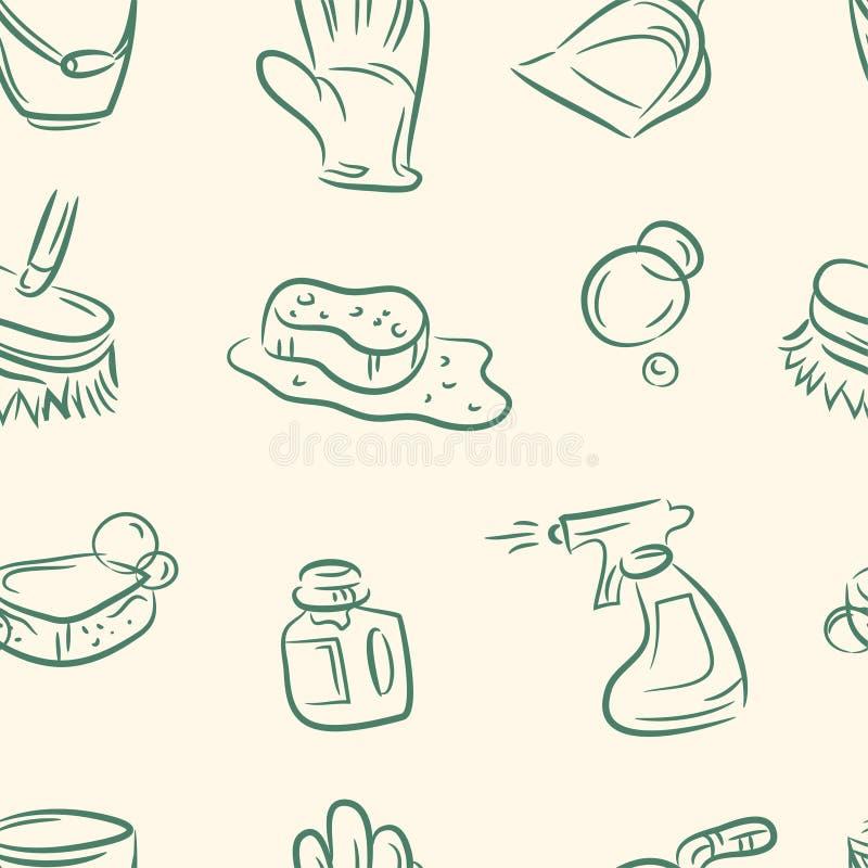 Doodle czysty set bezszwowy wzoru wektor royalty ilustracja