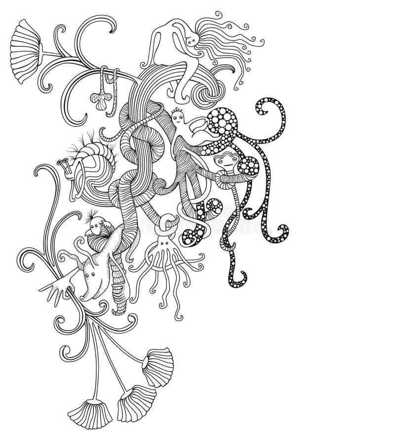 Doodle Da Fantasia Fotos de Stock Royalty Free