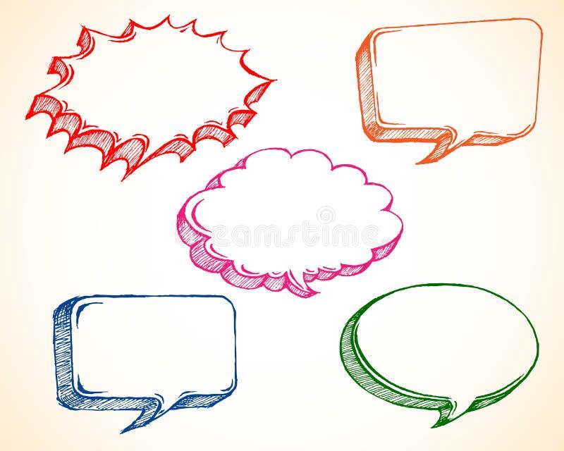 Doodle de la burbuja del discurso stock de ilustración