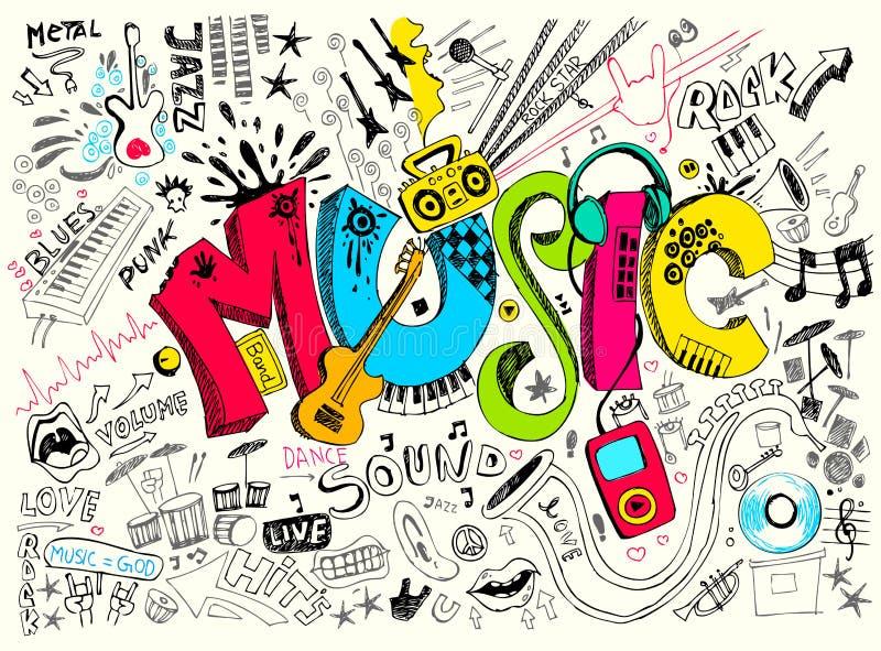 Doodle de la música ilustración del vector