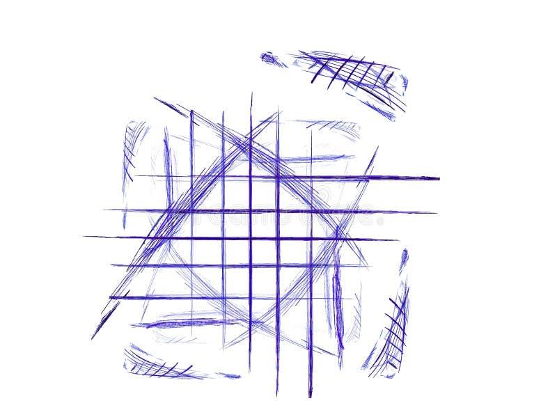 Doodle de la pluma y de la tinta imágenes de archivo libres de regalías