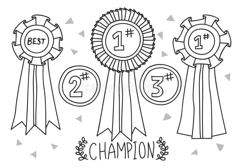 Doodle del premio del campione royalty illustrazione gratis