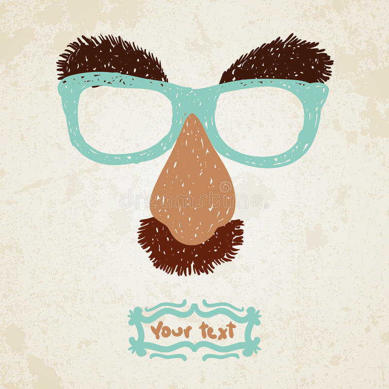 Doodle Disguise Mask Easily Added On To A Face. Royalty Free Stock Photography