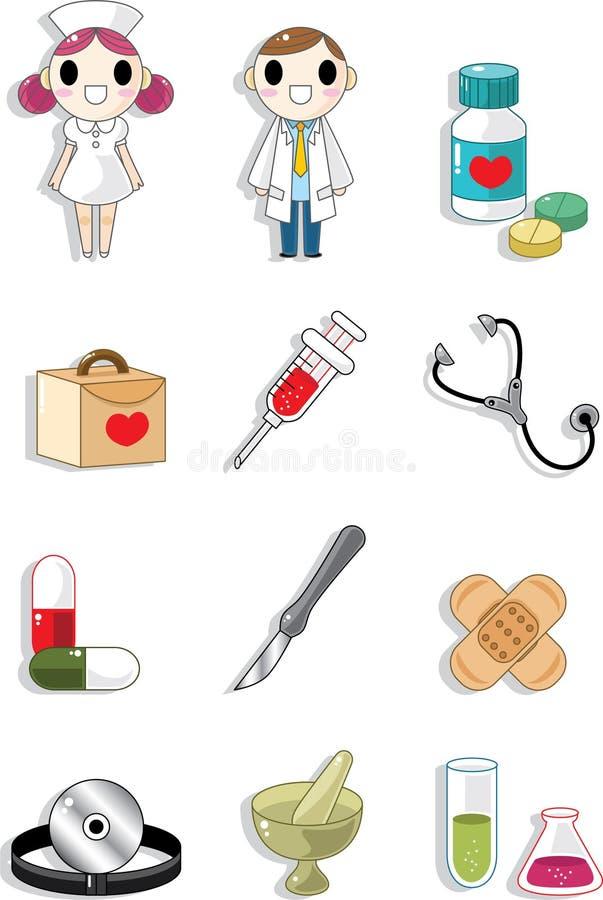 Doodle do hospital ilustração do vetor