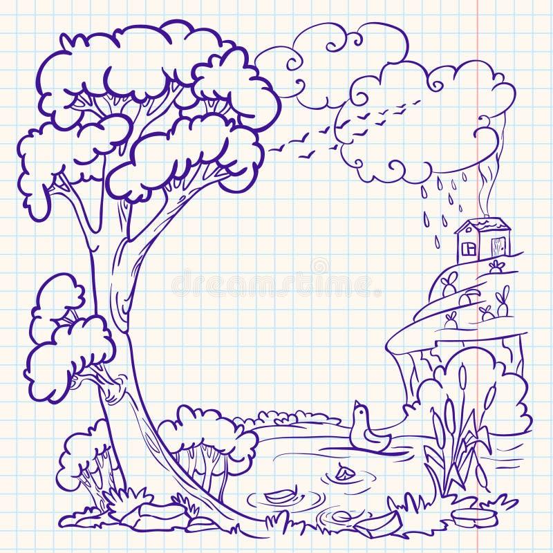 Doodle do outono ilustração royalty free