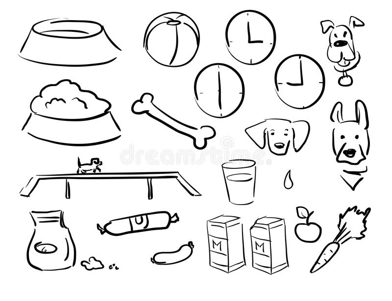 Doodle dog food007 stock images