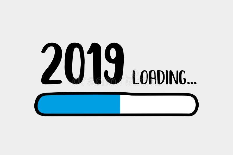 Doodle Download bar,2019 loading text. Vector illustration vector illustration